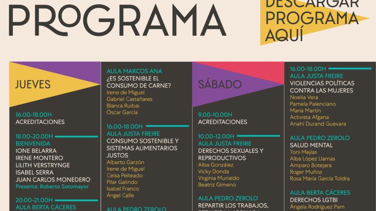 Cartel de la Universidad de Otoño de Podemos