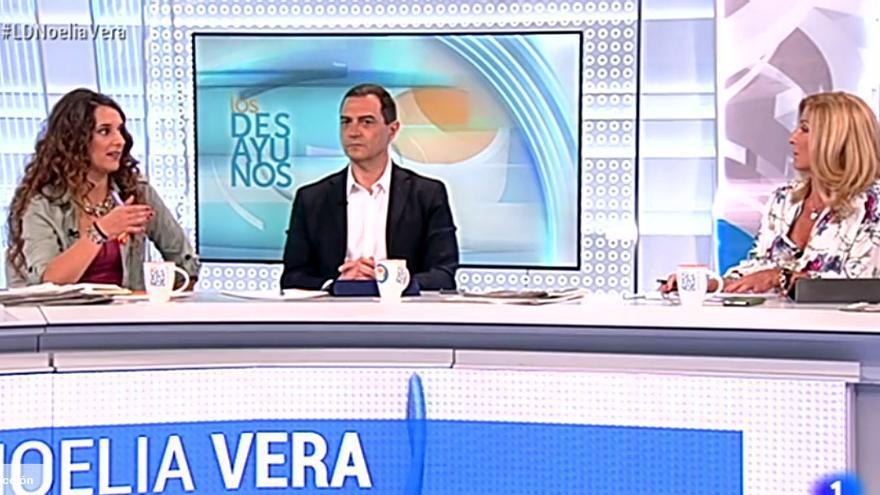 Noelia Vera y Carmen Tomás en Los Desayunos de TVE