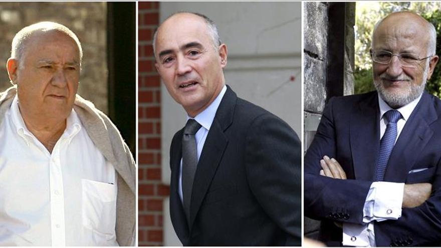 Amancio Ortega, los Del Pino y Juan Roig repiten como los más ricos de España