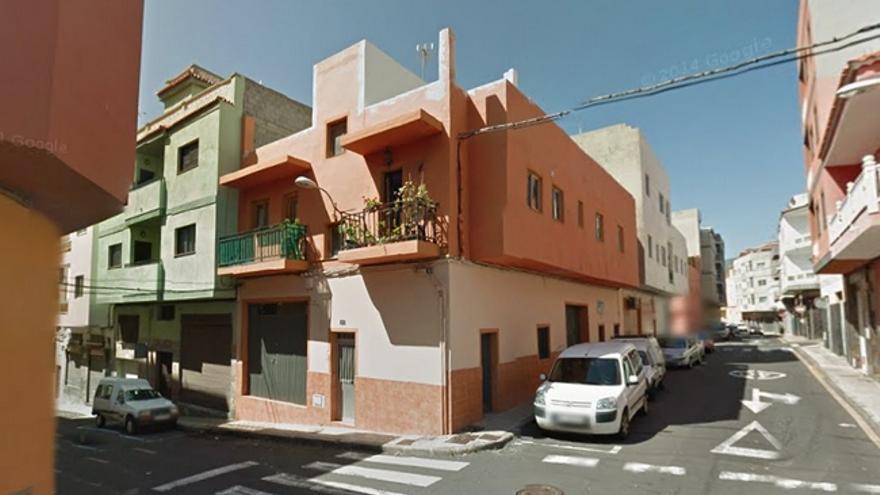 La vivienda, en el barrio de Los Andenes, en Tenerife