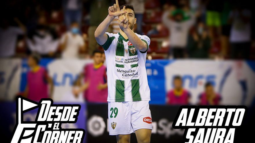 Alberto Saura celebra un gol en Vista Alegre   MADERO CUBERO
