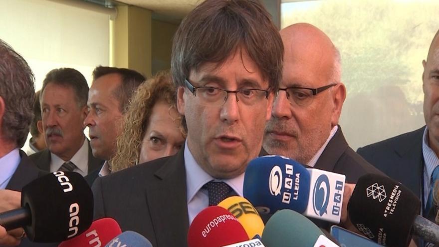 """Puigdemont replica a la CUP que lleva tiempo """"comprometido"""" con culminar el proceso"""