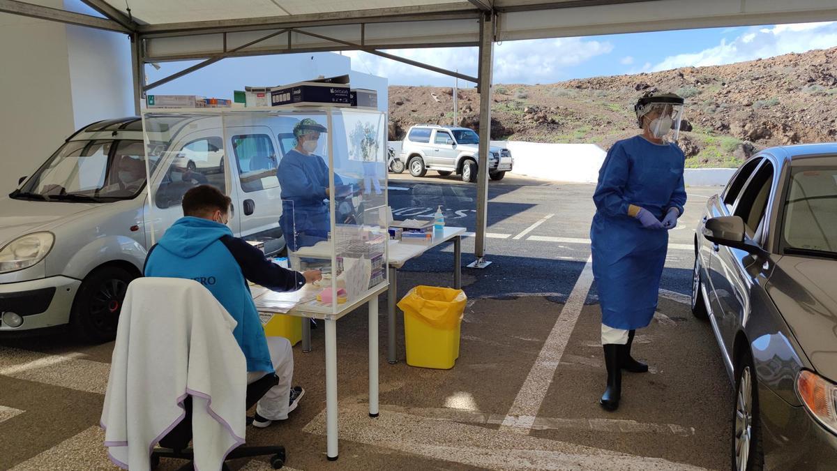 Puesto temporal para la realización de PCR en Lanzarote