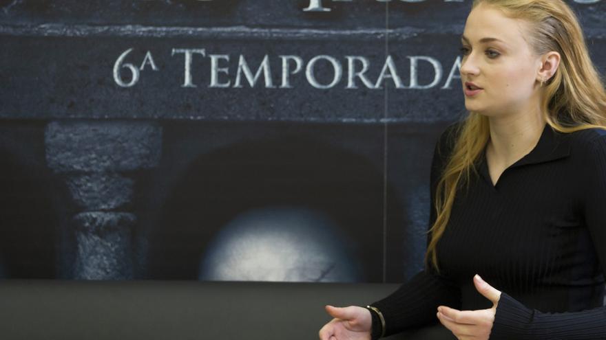 Sophie Turner en Madrid, presentando el final de temporada de Juego de Tronos
