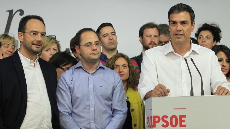 """24M- Sánchez celebra el resultado: """"El PSOE va a liderar el cambio progresista, vamos a asumir nuestra responsabilidad"""""""