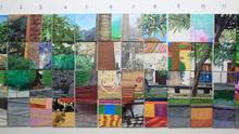 Collage de pinturas donadas a Amnistía Internacional.
