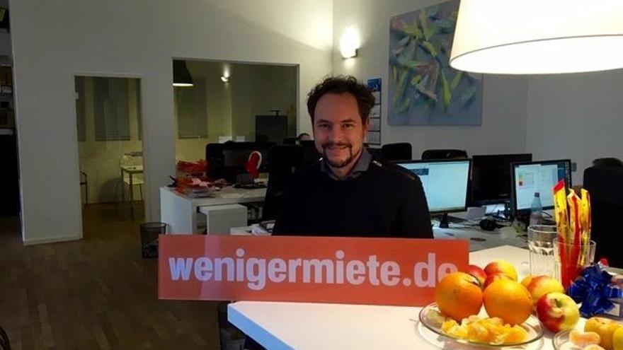 Daniel Halmer, co-fundador de la start-up wenigermiete.de, que rebaja alquileres en Berlín.