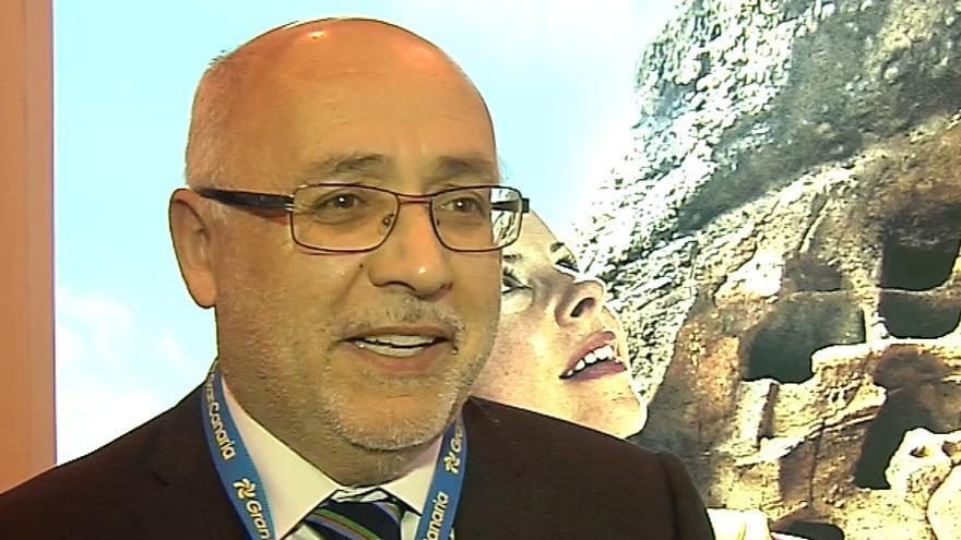Antonio Morales durante la entrevista concedida a Canarias Ahora en Fitur.