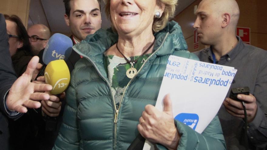 """Aguirre está """"muy contenta"""" por el hecho de que Rita Barberá acepte acudir a declarar"""