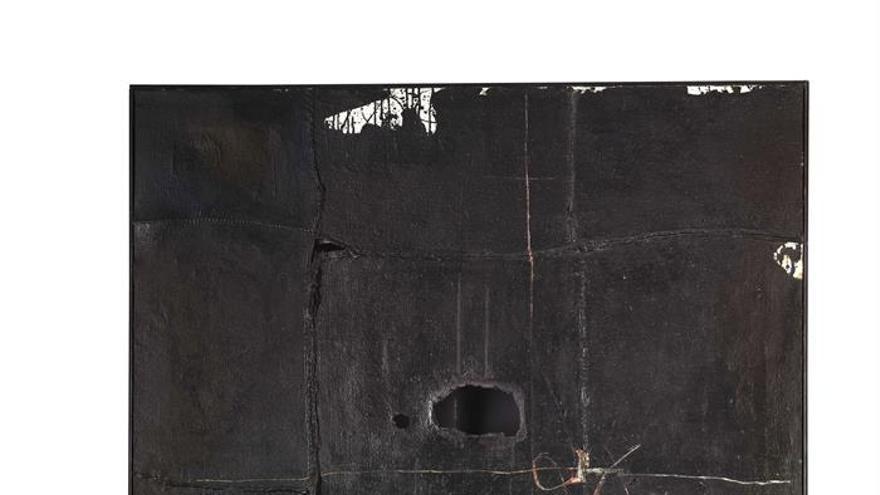 'Sin título (composición) pintura nº4' de Manolo Millares