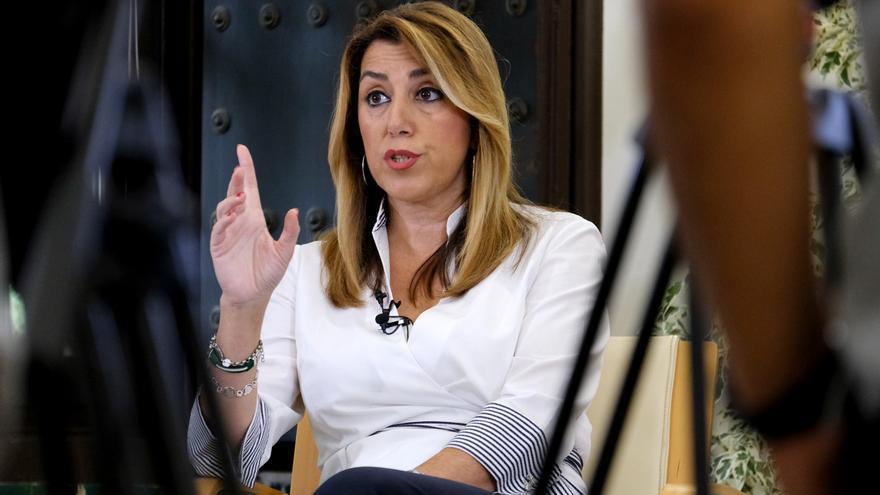 Susana Díaz durante la entrevista realizada con eldiario.es /foto: Luis Serrano
