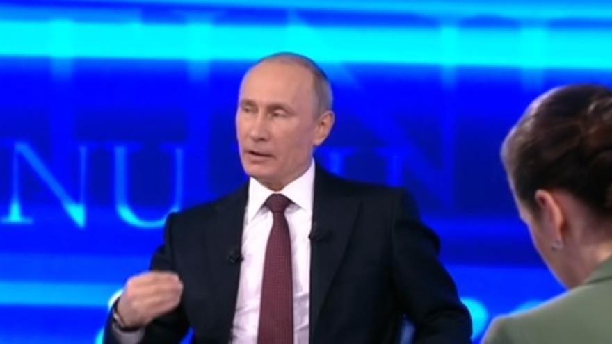 Putin, durante su participación en el programa 'Línea Directa'