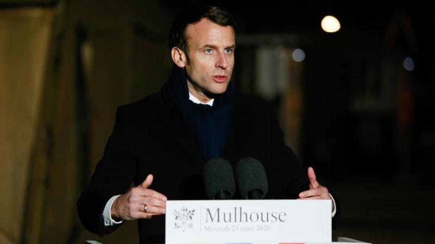 Elpresidente francés, Emmanuel Macron.