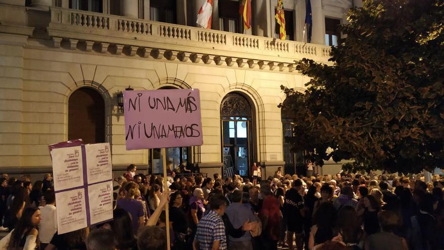 Concentración del pasado viernes en Zaragoza contra la violencia machista
