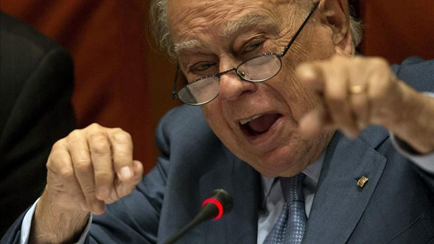 Jordi Pujol, en pleno ataque de furia.
