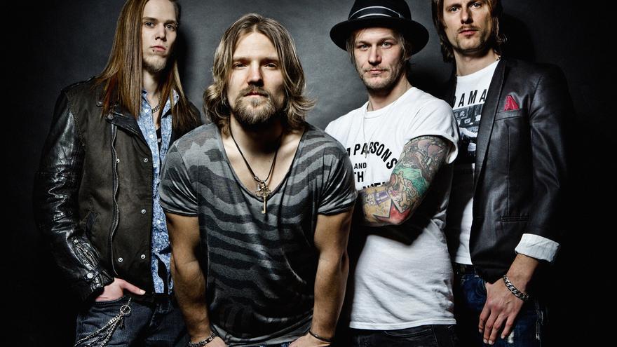Integrantes de la banda alemana The New Roses.