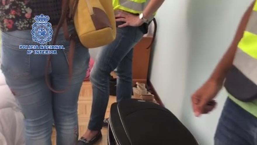 Pantallazo del vídeo difundido por la Policía Nacional