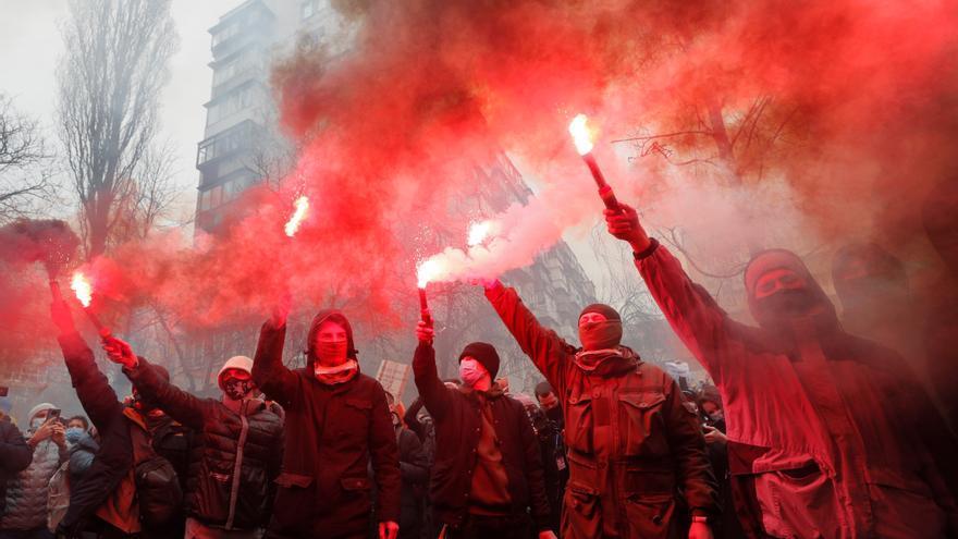Más de mil nacionalistas ucranianos exigen la liberación de un lider ultra