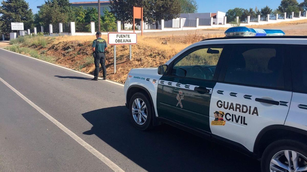 Guardia Civil en Fuente Obejuna, localidad donde han ocurrido los hechos.
