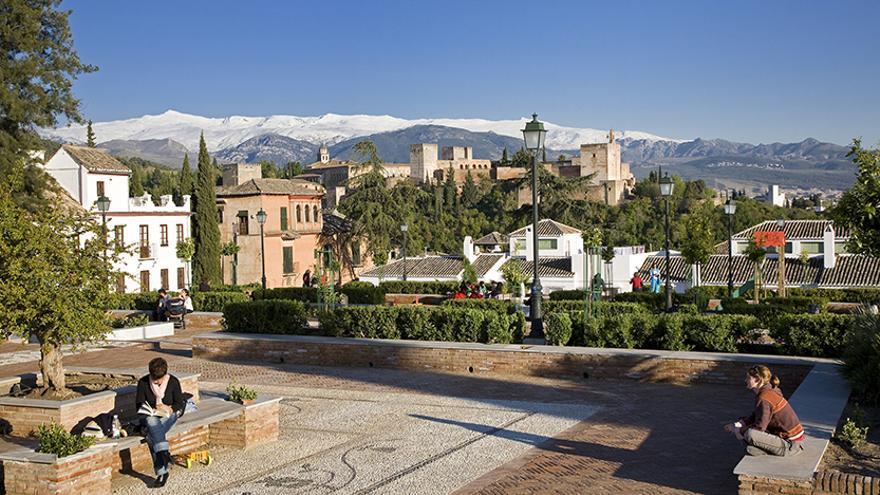 Granada - Albaicín - Placeta Cristo de las Azucenas - Plaza Santa Isabel La Real