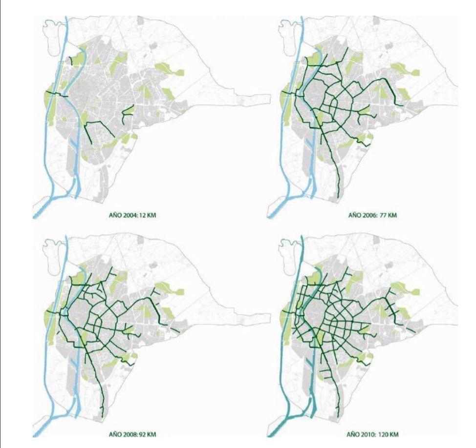 Carril Bici Sevilla Mapa.Carril Bici Sevilla Somos Chamberi