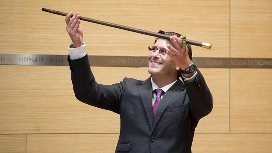 Jorge Rodríguez, el día de la toma de posesión como presidente de la Diputación