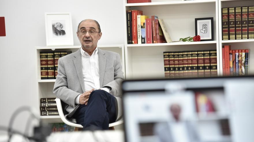 Archivo - El presidente de Aragón Javier Lambán.