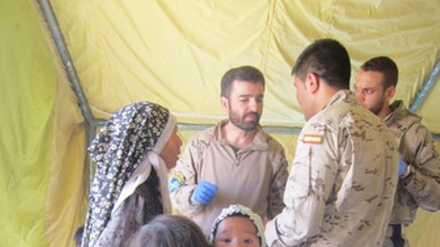 Consultorio médico instalado por militares españoles al norte de Qala-i-Naw