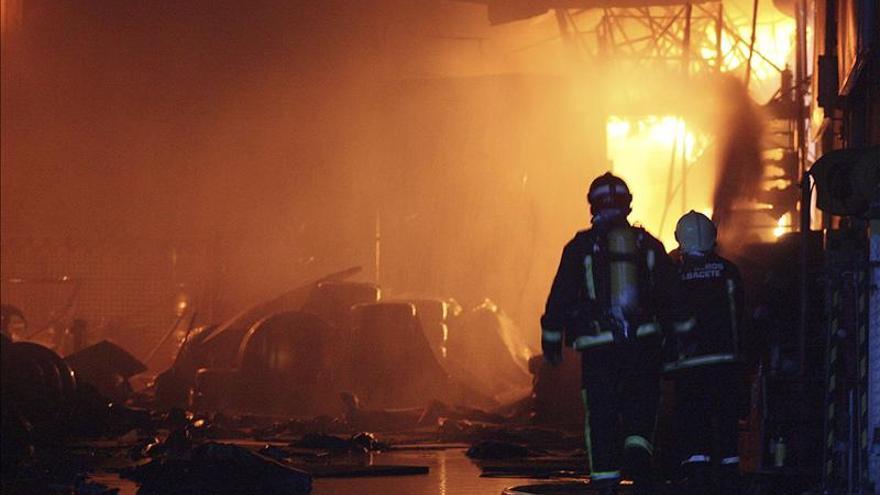 Muere un hombre al incendiarse su chabola en Albacete