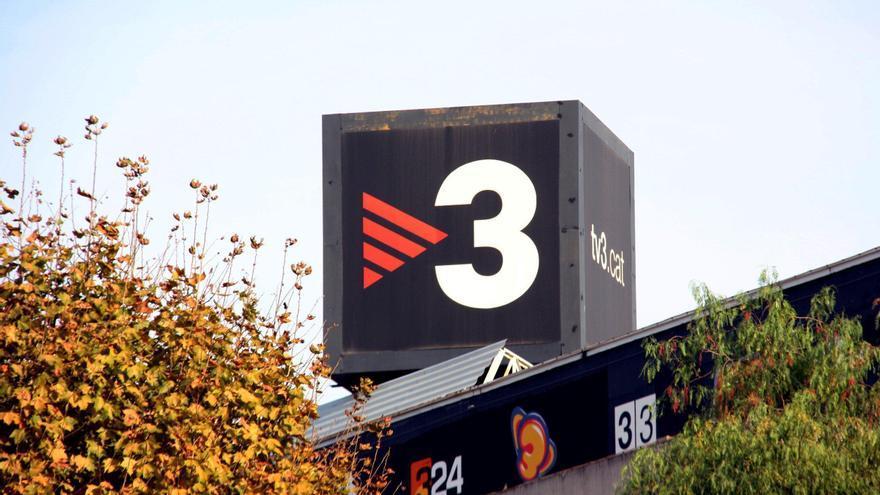 El edificio de TV3, con el logo de la cadena