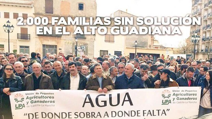 Manifestaciómn por el agua UPA Alto del Guadiana