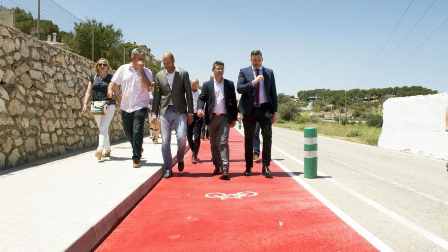 El presidente de la Diputación de València, Jorge Rodríguez, ha visitado el anillo verde de Cullera