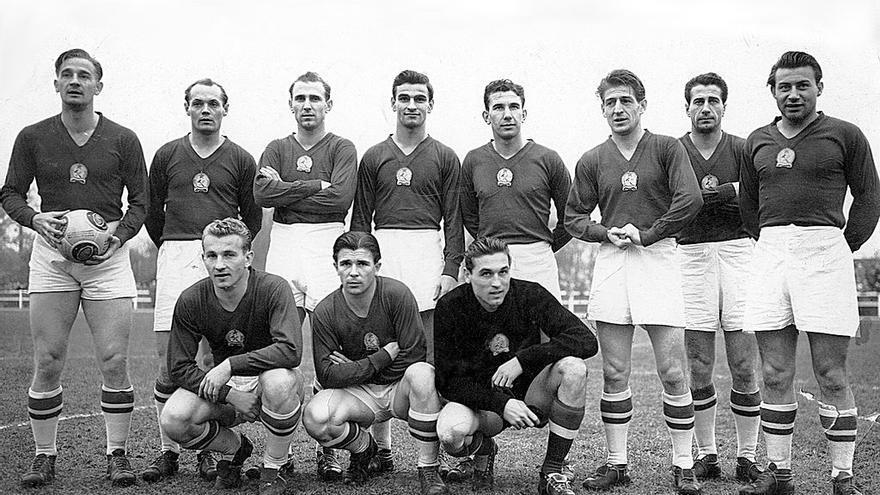 La selección húngara en 1953