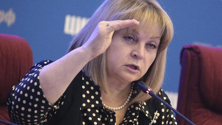 La jefa de la Comisión Electoral rusa promete dimitir si hay fraude el domingo