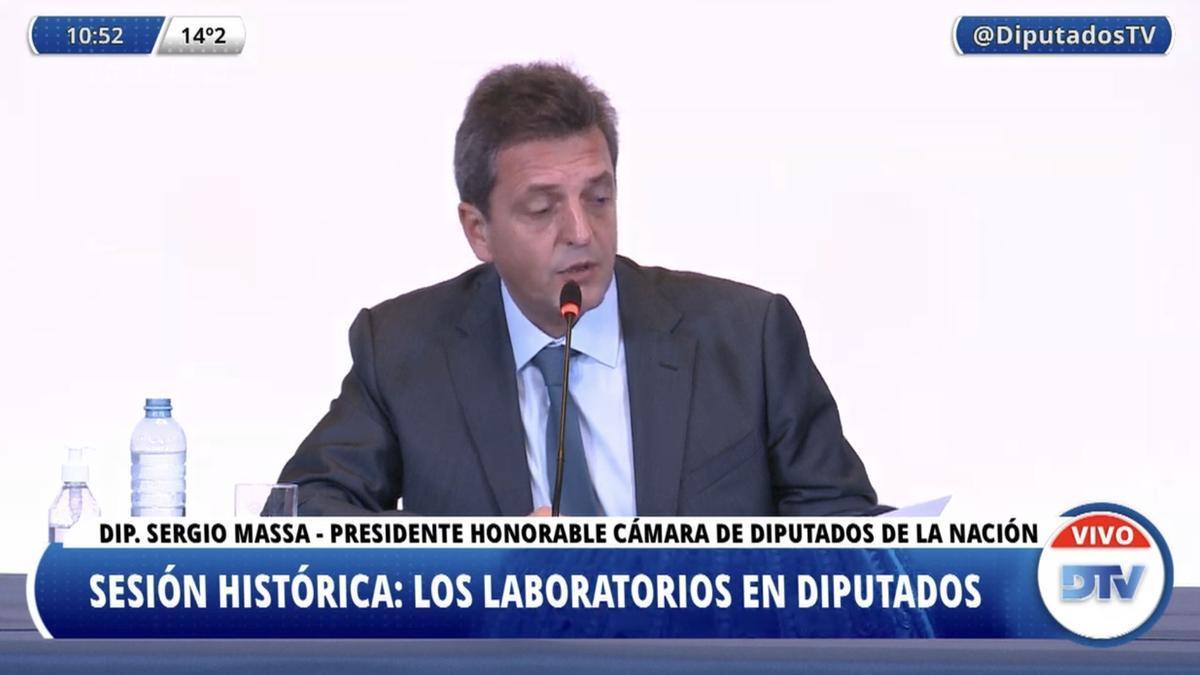 La Sergio Massa y la Cámara de Diputados reciben a directivos de los laboratorios que fabrican la vacuna contra el Covid-19.