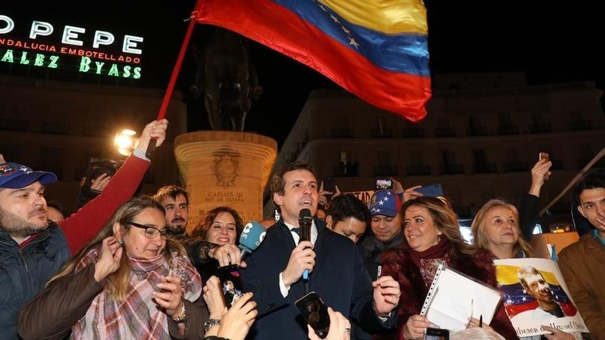 """El PP critica a Sánchez por """"seguir dando aire a la dictadura"""" en Venezuela al no reconocer a Guaidó como presidente"""