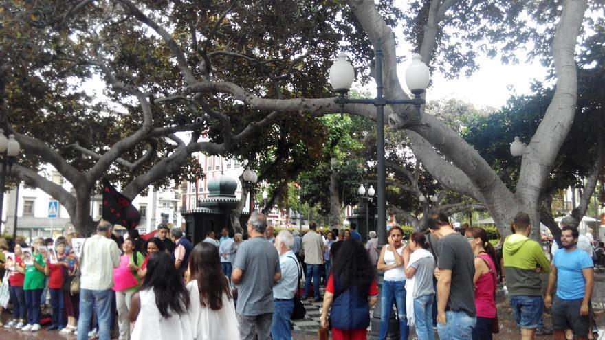 El acto  ha sido convocado por la Plataforma Canaria Contra la Criminalización de la Protesta Ciudadana