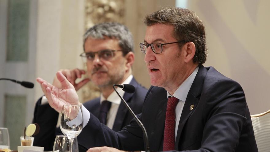 """Feijóo, sobre Rajoy: """"Me quedo con un candidato lúcido, lo de lucido se lo dejo a otros"""""""
