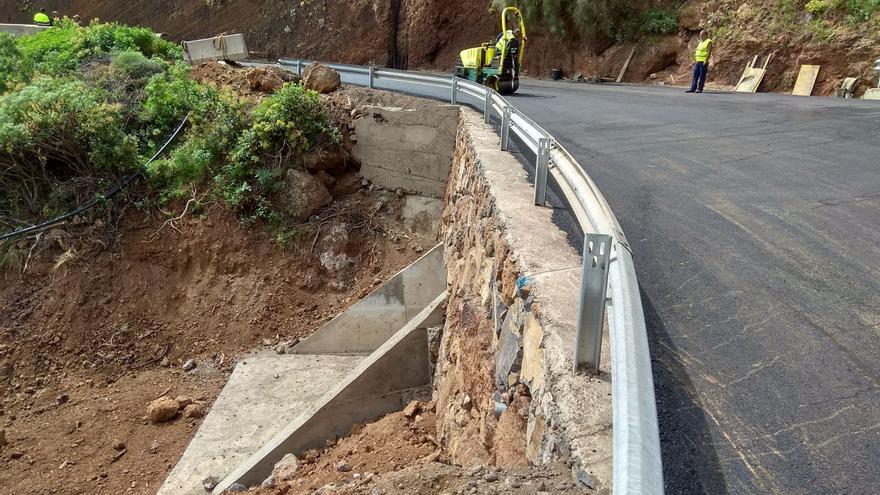 Obras en la carretera de Martín Luis.