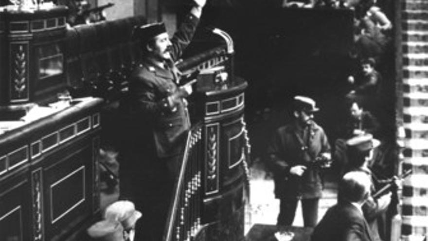 El teniente coronel Tejero, en el 23F.