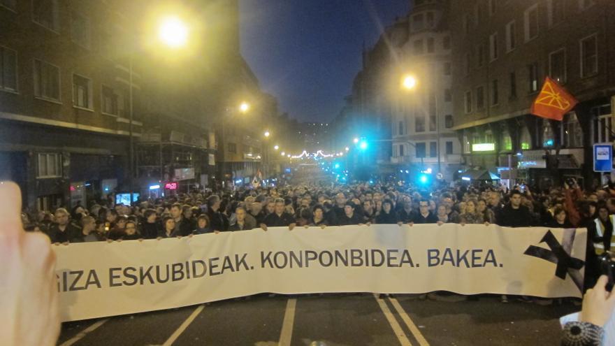 Más de 100.000 personas se manifiestan en Bilbao entre gritos en favor de la libertad de los presos y la amnistía