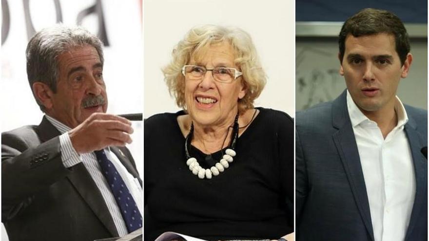 Revilla, Carmena y Rivera, los políticos que los canarios eligirían como jefes.
