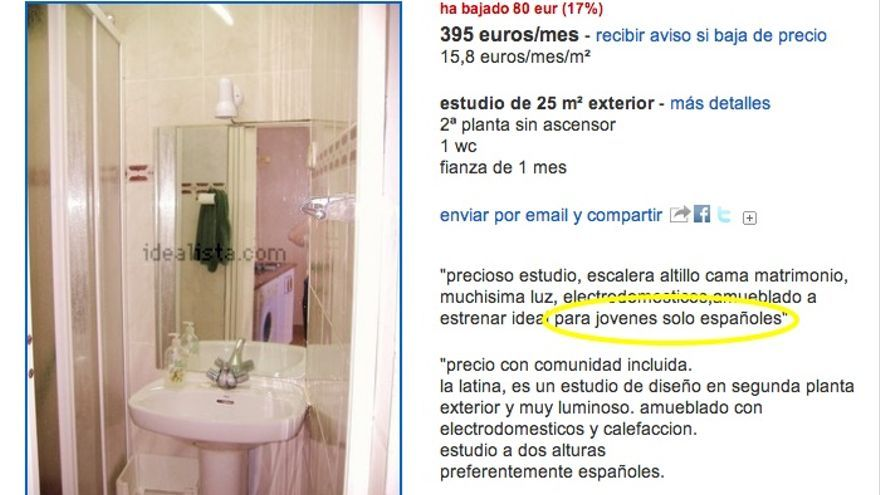 Se alquila piso abstenerse extranjeros - Poner piso en alquiler ...