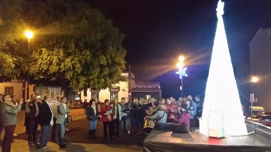 Iluminación navideña en La Laguna