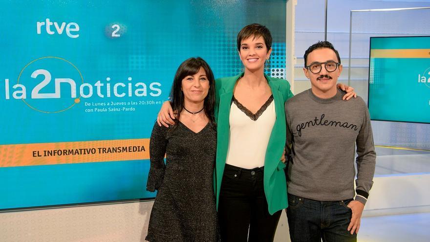 Eva de Vicente, Paula Sainz-Pardo y César Vallejo son los máximos responsables de 'La 2 Noticias'