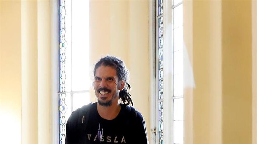 El diputado Alberto Rodríguez, en el Consejo Ciudadano Estatal de Podemos.