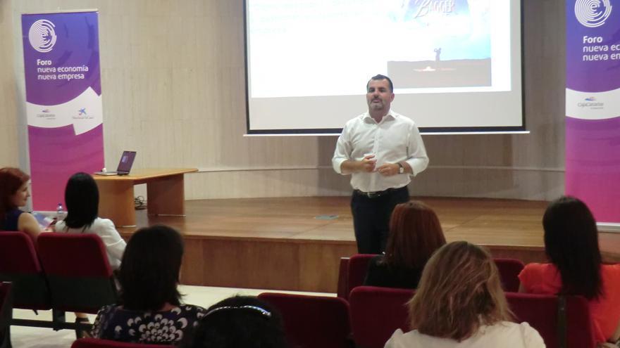 En la imagen, un momento de la intervención de Juan Ferrer en la jornada de este jueves.
