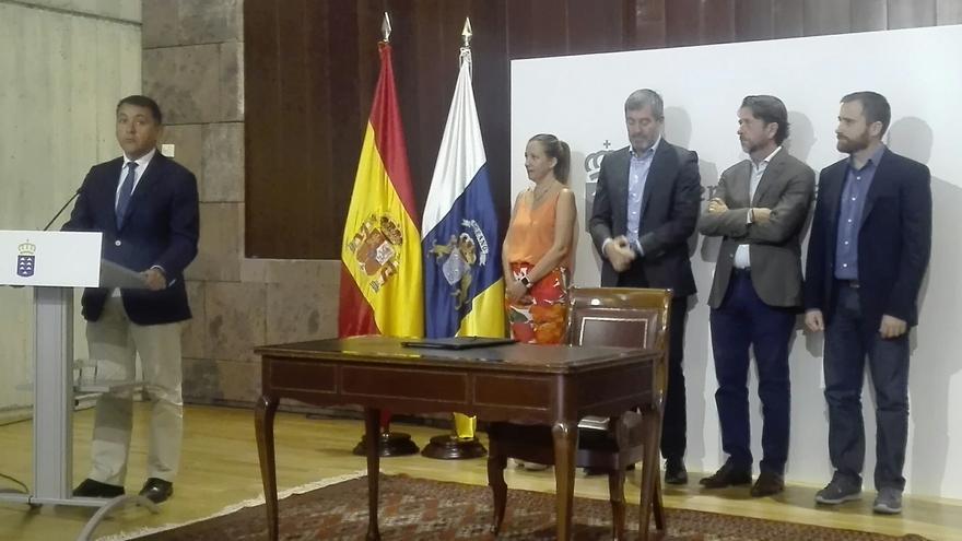 Acto celebrado este martes en Presidencia del Gobierno, en la capital tinerfeña