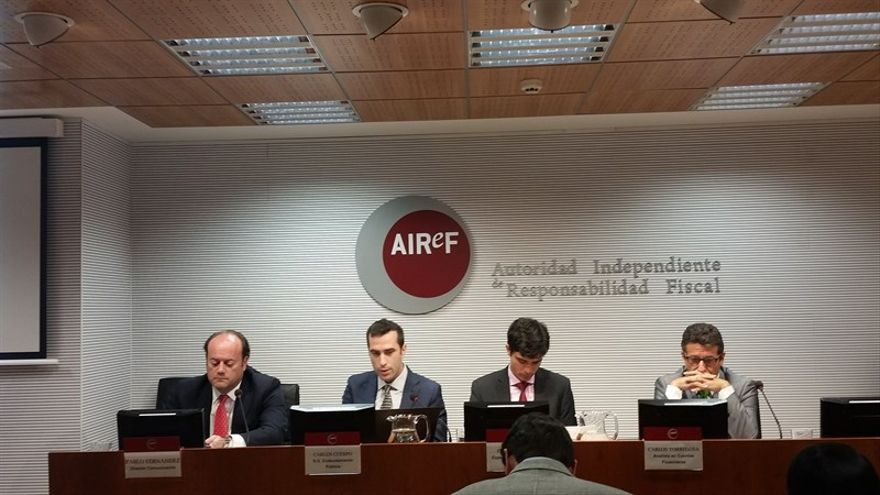 Rueda de prensa de la Autoridad Independiente de Responsabilidad Fiscal.