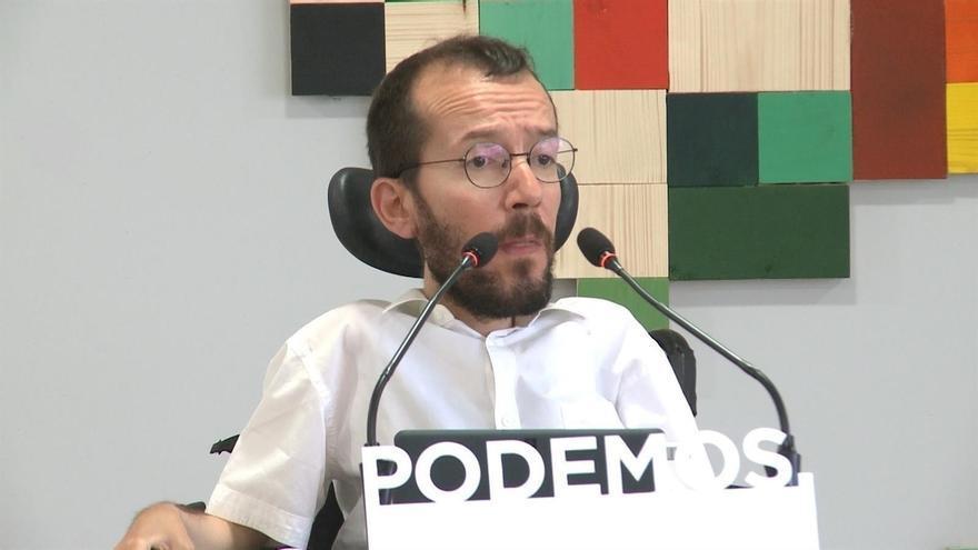 """Echenique se """"avergüenza"""" del """"turbio espectáculo"""" del dirigente de Podemos Castilla-La Mancha tras su agresión"""
